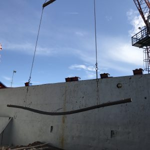 Steel unloading from hold